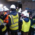 """""""On était trop swag"""" RT @ArPezennec La presse lyonnaise en pleine visite du chantier du Grand stade de l@OL #Lyon http://t.co/k0clAgH6Xc"""