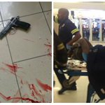 7 shot in Bedford Centre, Bedfordview robbery! 9mm & AK47 found. Can SA Police stop claiming crime is under control! http://t.co/SCqYyXi0Os
