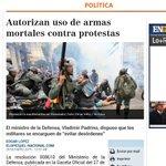 Autorizan uso d armas mortales en protestas. Gaceta Oficial 40.589 publicada el 27/01/15. #Venezuela #NoHayRemedio http://t.co/GleZD53Vf0