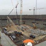 Impressionnant ce Stade des Lumières. Le chantier avance à vitesse grand V ! @OL #euro2016 http://t.co/8k7WCvb3Jb