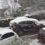 @examiner just seen these photos by Angela Crowther of a jackknifed lorry on Greenfield rd in Holmfirth. Police there http://t.co/lBZZRfNHgC