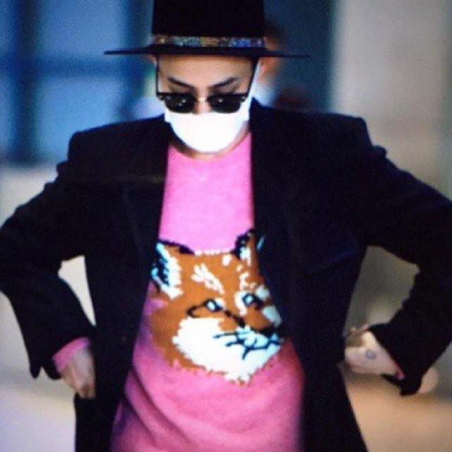 @IBGDRGN spotted back in Seoul sporting our trusty #maisonkitsune Fox Head Sweater! On sale: http://t.co/cbTsgu687Q http://t.co/Dtd6FutAoF