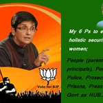 Women security is BJPs top priority. Will ensure steps 2 empower women and create jobs 4 them @thekiranbedi http://t.co/PBklKyqiAn