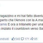 .@MDestroOfficial saluta Roma su Facebook http://t.co/HEMX1psU9T