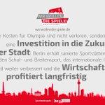 @BerlinPartner Investition in die Zukunft von #Berlin Agrumente #PrOlympia #WirwollendieSpiele http://t.co/HUPKepkrzs