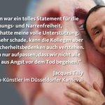 Kölner Karnevalskomitee hat Bau des #CharlieHebdo-Wagen gestoppt. Dazu der Düsseldorfer Wagenbauer Jacques Tilly: http://t.co/W5cQgOP1hl