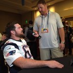 Look at this guy! @koppen67 switching roles & asking the offensive linemen questions http://t.co/kStsrPLK78