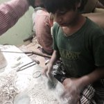 RT @umasudhir: Working with bare hands handling PoP, chemicals, dyes; tiny hands hv become rough, cracked #Hyd #childlabour