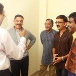RT @onlynikil: Had a Nice Time with Ulaganayagan, Nasser Sir, Ramesh Arvind & Dhanajayan