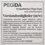 PEGIDA sucht Ausländer für Vorstand, weil Deutsche ständig hinschmeißen ... http://t.co/Dbe0ogOQv9 #Pegida #nopediga http://t.co/ZuNSSXmsF5