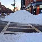 This is part of the snow struggle walking around in #Boston right now. Taken at the corner of Clarendon and Tremont. http://t.co/7BcuUZg0BO
