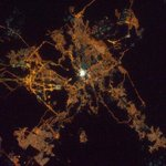 Makkah and Madinah from the International Space Station. http://t.co/Cy67fvxKwC