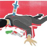 """@santosjorgeh: La muerte del fiscal Nisman, ilustrada en el diario Washington Post http://t.co/s9fqvq7AE7""@gabuchy"