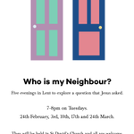 Who is my Neighbour? #Lent http://t.co/zL4CGOtYcV Everyone welcome #Exeter #church http://t.co/L2ChbqTi9j