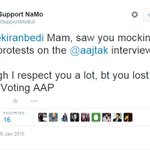 This guy was a hard-core BJP supporter who changed his mind after Kiran jis cmnts @csawarkar @aartic02 @JoinAAP http://t.co/tX1QSrmZWb