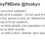 150129 #SunnyFMDate Yuri says HI on FMDate!!! :D #yulsun is love <3 http://t.co/cDcs0HAI2C