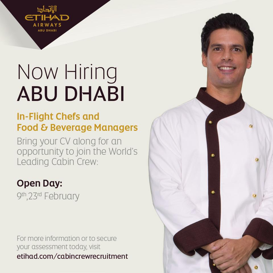 Now hiring Inflight Chefs and Food and Beverage Managers to join our team. APPLY: