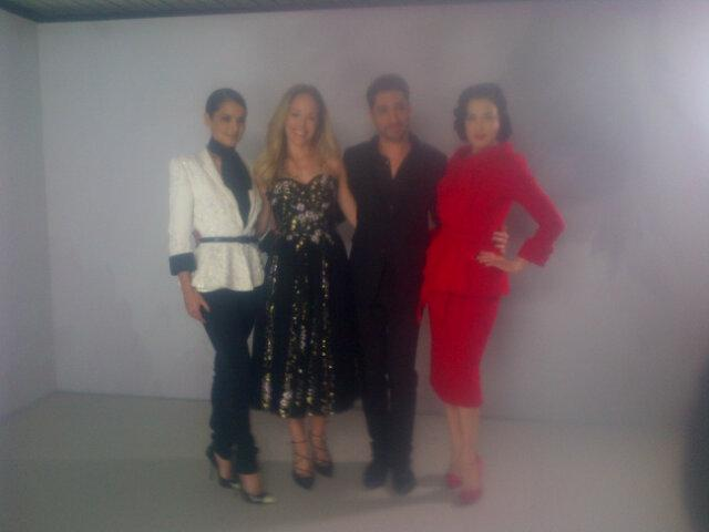 Cheryl Fernandez Versini and Dita Von Teese with Tamara Ralph/Michael Russo,Ralph+Russo couture show Paris http://t.co/cRS4WmS6jT