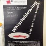 Noch bis 8.2. im #verdi-Haus #Berlin: Ausstellung über #Whistleblower_innen. zB. Brigitte #Heinisch. Lohnt sich! http://t.co/LBWRTBEaDs