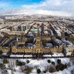Looking north over Glasgow University to the #snow covered Campsie Hills. #scotland #glasgow #weather #scotsnow http://t.co/uK45wkfaLP