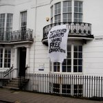 Students and workers unite! Banner drop at Brighton University yesterday #freeeducation @NCAFC_UK http://t.co/3rmFGRCBYU