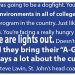 St. Johns coach Steve Lavin was also quick to praise the Creighton crowd last night: http://t.co/lzcUfc98es http://t.co/AopXEEnX4b