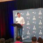 Tom Brady looks a little healthier than yesterday. Sounds better also. #SuperBowlXLIX #WBZ http://t.co/ZOqPpsI46P