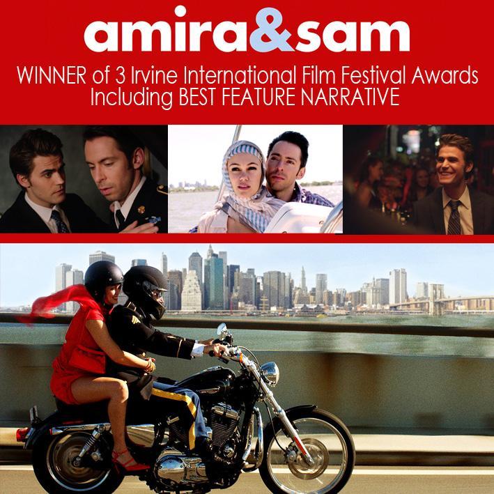 Winner of Best Feature Narrative at @irvinefilmfest  Amira & Sam in Theaters & VOD Tomorrow @AmiraAndSam @paulwesley http://t.co/r9qU2rg8mr