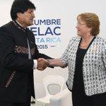"""@Cooperativa: Bachelet y Evo Morales acordaron reactivar la agenda bilateral http://t.co/dOlN4xCqFA http://t.co/siUhxoZamo"""