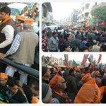 Glimpse of Smt. @thekiranbedi road show in Mandawali (New Delhi) - 29th January 2015. #Vote4BJP #BJP4Delhi http://t.co/vlh2OSgk9O