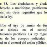 """#Anónimo envia """" : Artículo 68 de la constitución: se prohíben armas de fuego en pacíficas. http://t.co/jb15ZXSsDX"""""""