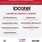 . @locatel_mx informa: Lista de hospitales donde se encuentran lesionados del Hosp Materno Infantil de Cuajimalpa. http://t.co/MgILg5fxaq