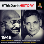 #ThisDayInHISTORY Mahatma Gandhi was assassinated. http://t.co/DxUXGditwB