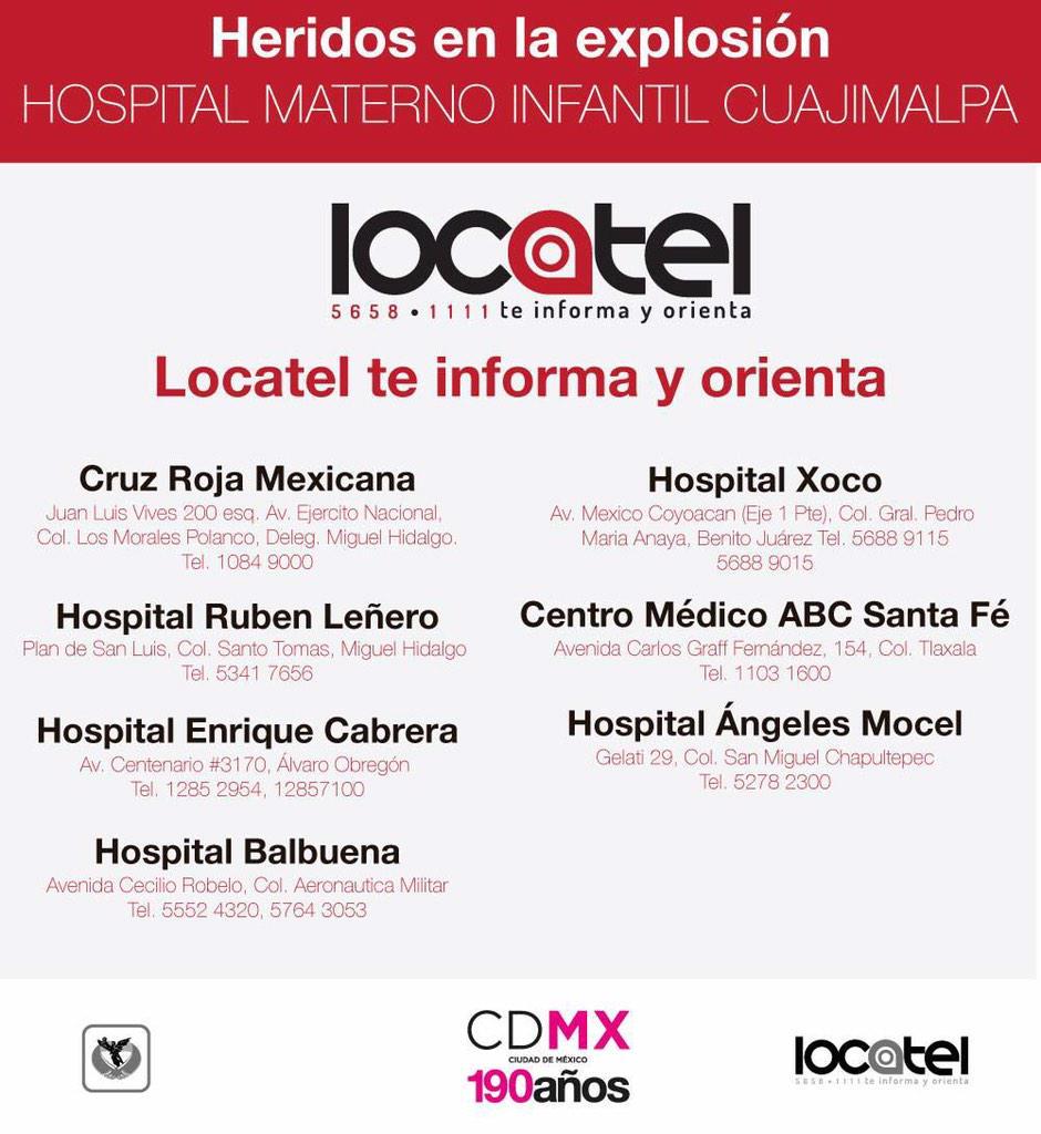 Se solicita a la #CDMX donadores sangre para heridos del Hospital Maternal #Cuajimalpa RT @tvaztecaoficial @HechosAM http://t.co/5QWzU1iybj