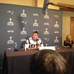 Gronk at this mornings press conference at the Pats team hotel. #WBZ #Patriots http://t.co/mofelLbtIZ
