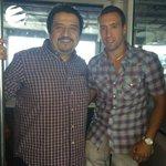 Brahian Alemán junto a Javier Castillo importante Ejecutivo Barcelonista en el momento que llegó a Guayaquil http://t.co/4L0Kc3sqaL