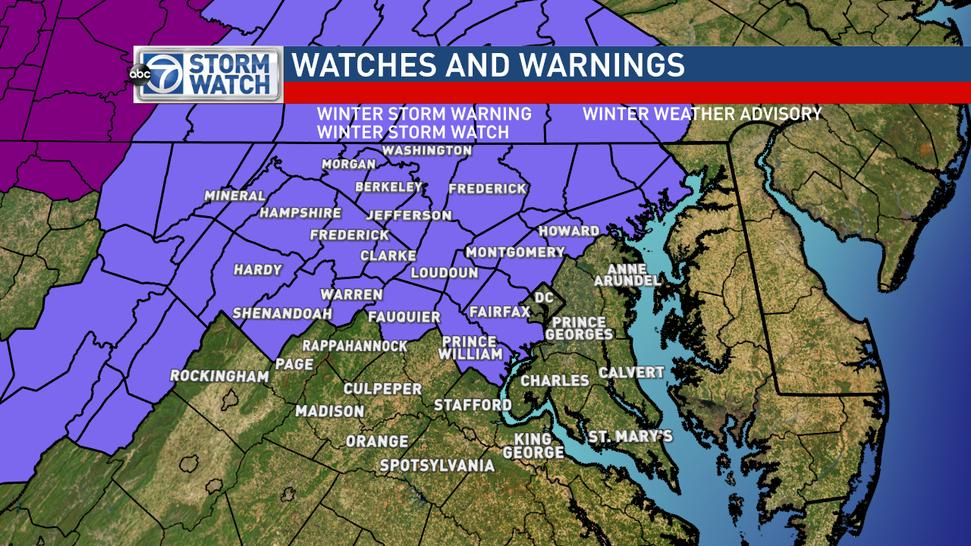 Lauryn Ricketts (@laurynricketts): Winter Weather Advisory has been extended to ALL of Loudoun/Montgomery/N. Shen Valley - N. Fauquier, Fairfax & Howard http://t.co/YG6deWgw1u