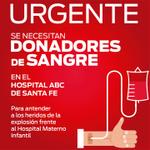 #TenloEnCuenta: Solicitan donadores de sangre para heridos de explosión http://t.co/W74Zl66frC http://t.co/cvEI8gOdWl