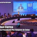 """""""@teleSURtv: Nueva Presidencia Pro Témpore de #CELAC Presidente @MashiRafael #CelacEsPatriaGrande http://t.co/OGCk2GUuCb"""" #Ecuador"""