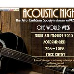 1 week to go!! Acoustic night #REPYOURHERITAGE http://t.co/gBS6r1iVKT