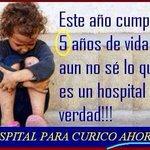 No se puede esperar más! La salud es un derecho para todos!!. CURICO y su gente necesita un hospital!!! http://t.co/gTCQRW4mPS
