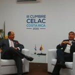 .@MashiRafael y @luisguillermosr en reunión bilateral #CelacEcuador http://t.co/hkwQTdudIW