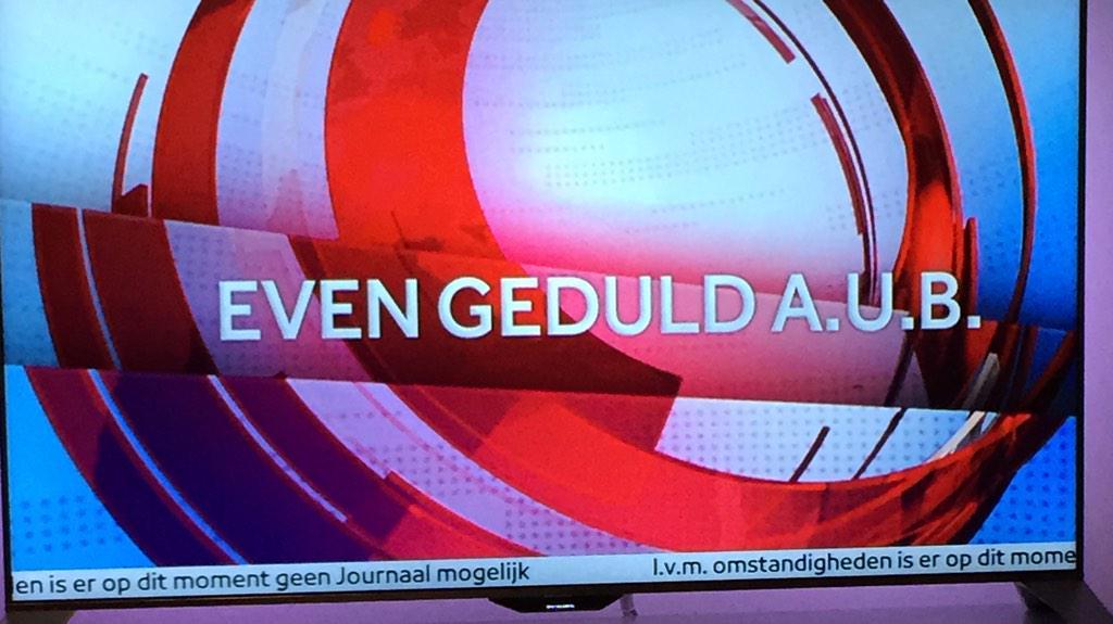 Zowel in NL als in België het journaal onderbroken na 'aanval' door man met pistool... #vrt #nos http://t.co/zbKoNa2677