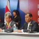 Rueda de prensa conjunta con Presidentes de #CostaRica y #Ecuador #CelacEcuador http://t.co/uJ6zAt6lJ2