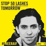 #Saudi authorities MUST stop tomorrow's flogging of @raif_badawi & unconditionally #FreeRaif! http://t.co/8Ta4YEbFQP http://t.co/0NhlbZBN3t