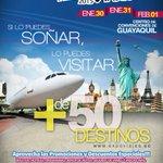 Aprovecha los descuentos y promociones en ExpoViajes 2015, Centro de Convenciones #Guayaquil del 30/Ene al 01/Feb. http://t.co/AwvT6MevCZ