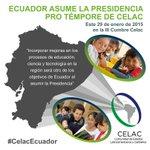 Mejorar la vida de los ciudadanos, prioridad del #Ecuador durante su Presidencia Pro Témpore de CELAC #CelacEcuador http://t.co/H4hsdNiLcF