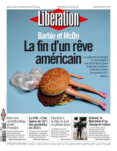 A la une de notre numéro de vendredi : Barbie et McDo, la fin d'un rêve américain http://t.co/AsNbFnACDQ http://t.co/gQAAsqbVNs