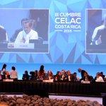 Con el compromiso de trabajar en 5 ejes prioritarios para la región #Ecuador asume la Presidencia #CelacEcuador http://t.co/4uYtIUYqvV