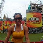 ¡la más bonita @JulissaC7tc ya se encuentra ensayando las pruebas! ¿Hoy dominarán los amarillos la competencia? http://t.co/kRQGhHZCLP